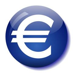 Euro glass button vector illustration