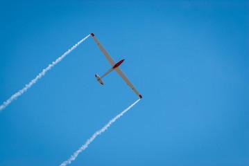 Acrobatic glider in flight
