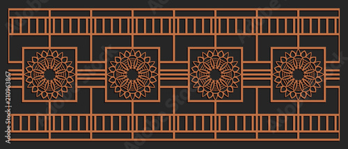 Laser cutting design for fencing, door, wall or window panel  Jigsaw