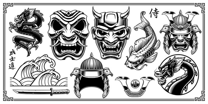 Samurai design elements.