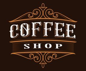 Coffee vintage lettering.