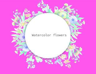 Elegant colorful flower
