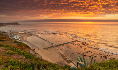 Merewether Baths at Sunrise, Newcastle, Australia