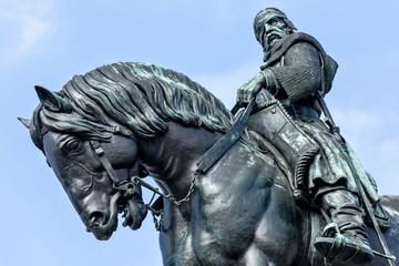 Equestrian statue of Jan Zizka near Vitkov memorial