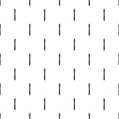 Black pen pattern seamless repeat in cartoon style vector illustration