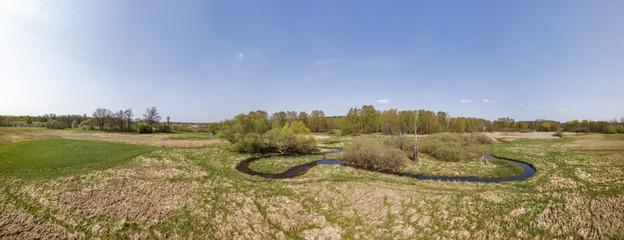 Luftbild, Panorama Tegeler Fliess