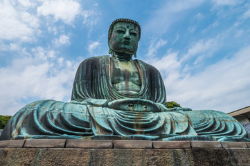 World famous Daibutsu Buddha - the Great Buddha Statue in Kamakura