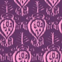 Vector seamless ikat pattern bordo for fabric, textile, craft, wrapping ceramic