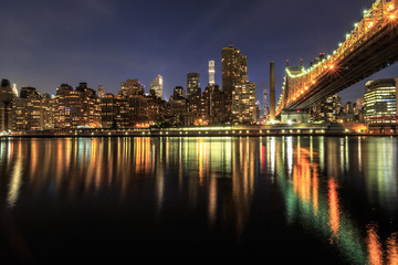 Queensboro bridge view at night