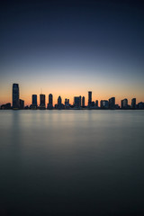 View on jersey city during sunset