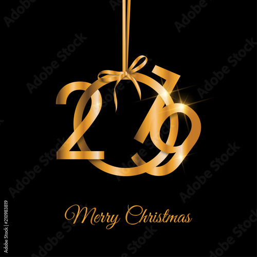 Christbaumkugeln Schwarz Gold.2019 Gold Auf Schwarz Stock Image And Royalty Free Vector Files On