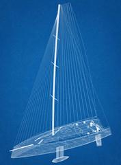 Sailboat Design - Architect Blueprint
