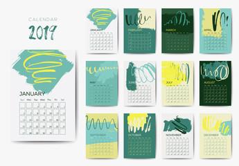 The 2019 calendar template