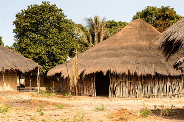 Old typical  House in Guinea Bissau, western Africa