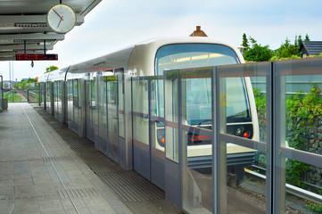 Copenhagen metro train station. Denmark