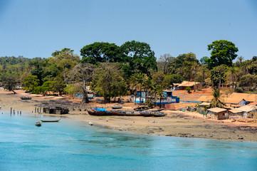 Architecture of the Bubaque Island, the Bissagos Archipelago (Bijagos), Guinea Bissau.  UNESCO Biosphere Reserve