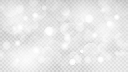 Abstract transparent light background with bokeh effects in gray colors. Transparency only in vector format Wall mural
