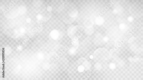 Abstract transparent light background with bokeh effects in gray