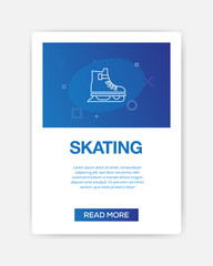 SKATING ICON INFOGRAPHIC