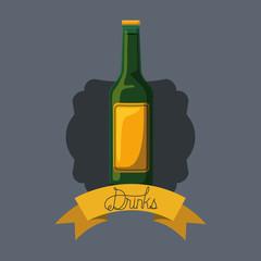 best drink bottle liquor frame vector illustration design