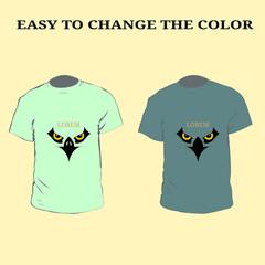 Eagle Logo T-Shirt. Men colorfull t-shirt design with eagle logo