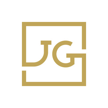 two letter logo line square JA TO JZ