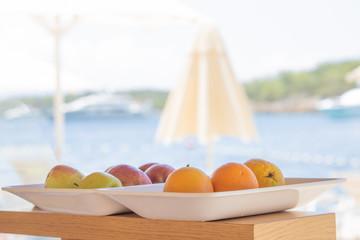Fruit in the bar on the beach