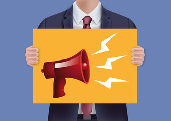 information - mégaphone - haut-parleur - info - annoncer - présentation - parole - revendiquer