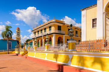 Plaza Mayor of Trinidad, Cuba. UNESCO World Heritage