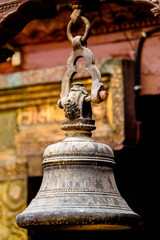 Figure in a temple of Kathmandu, the capital city of the Federal Democratic Republic of Nepal, Asia