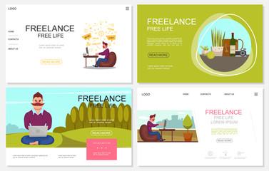Flat Freelance Websites Collection