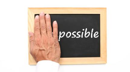 Possible et impossible sur une ardoise