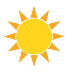 sun icon vector illustration isolated on white
