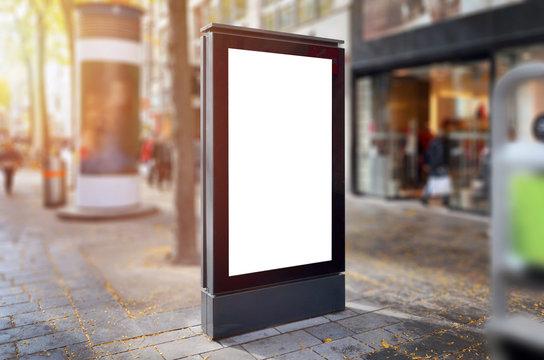 Black city light billboard for design poster presentation.