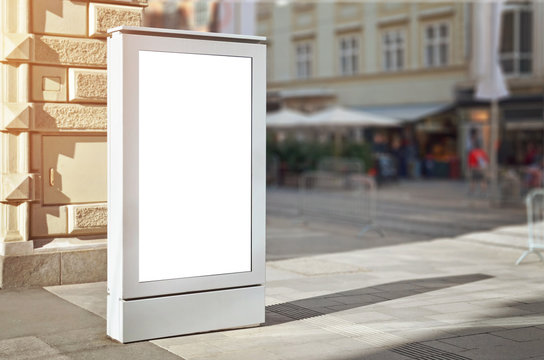 Modern city light bilboard or street led display for ad presentation.
