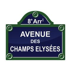 Paris street avenue plate sign symbol
