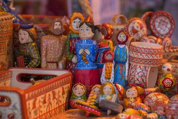 Slavic folk rag dolls
