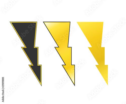Thunder High Voltage Symbol Warning Sig Stock Image And Royalty