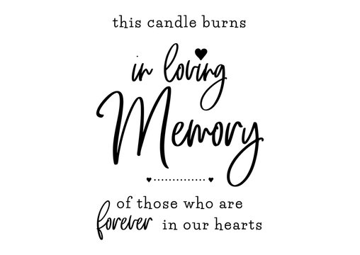 in loving memory wedding lettering