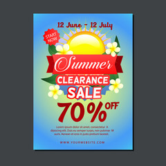 sale poster template with sun
