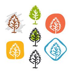 Green Leaves Vector Logo Design