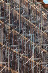 Close up construction scaffolding