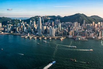 Fotomurales - Hong Kong city view from 102 floor