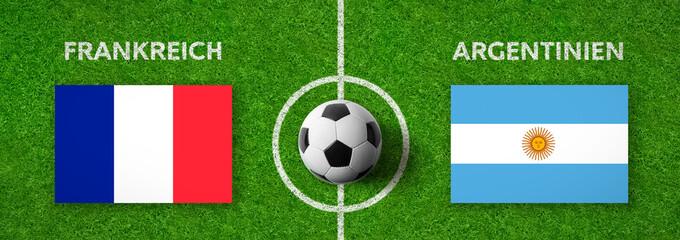 Fußball - Frankreich gegen Argentinien