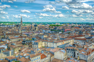 Aerial view of Bordeaux, France