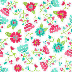 Beautiful floral seamless pattern. Vector illustration with flowers.