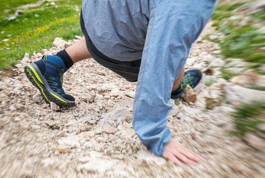 Sportunfall beim Wandern