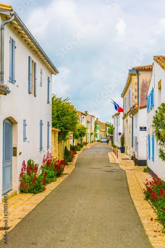 a street at les portes en re village situated on ile de re france