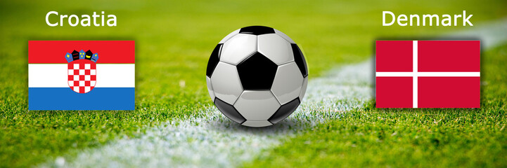Fussball - Kroatien gegen Dänemark