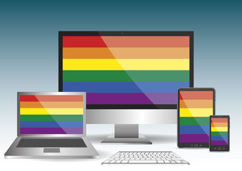 gay flag wallpaper computer laptop tablet smartphone